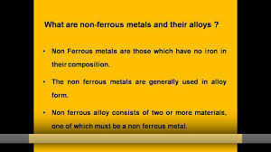 Ssp Flags Need For Non Ferrous Metals U0026 Alloys Youtube
