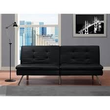 Futon Living Room Set Black Modern Sectional Sofa Futon Convertible Sleeper