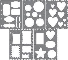 fiskars shape template stencil scrapbook xpress craft select your