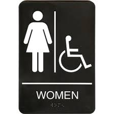 Mens And Womens Bathroom Signs Compliancesigns Acrylic Womens Girls Restroom Sign 12 Inch