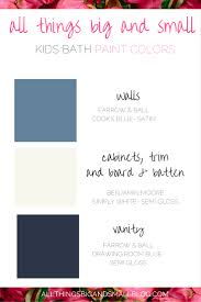 nautical bathroom color scheme one room challenge all things