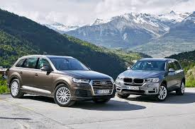 audi jeep 2016 duell der luxus suv audi q7 vs bmw x5 2015 youtube