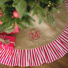 personalized tree skirt monogrammed burlap ruffle tree skirt personalized tree skirt