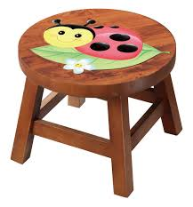 childrens table and stools children s ladybug solid wood stool baby n