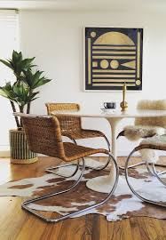 retro dining room retro midcentury eclectic dining room with tulip table via