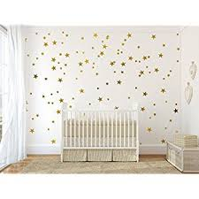 Home Decoration Wall Stickers 68 Star Stickers Removable Star Wall Decals Gold Amazon Com