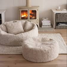huge fluffy bean bag chair and ottoman casa de snuggle