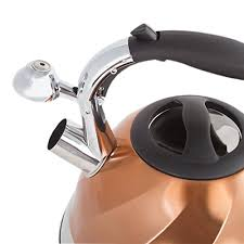 imperial home whistling tea kettle stainless steel copper tea