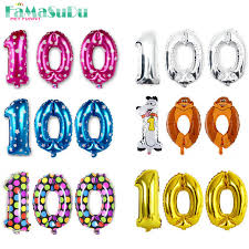 new year party supplies 100 days number foil balloons new year party decoration
