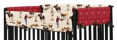 Western Baby Crib Bedding Rail Guard Covers Country Western Baby Nursery Paisley Cowboy
