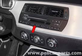 bmw z4m radio replacement e85 2003 2008 pelican parts diy