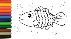 colorful sea fish coloring pages colouring video for children