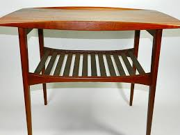 Teak Side Table Modern Teak Coffee Table France U0026 Daverkosen