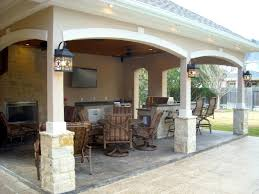 attached covered patio cabana with curtains pool house with