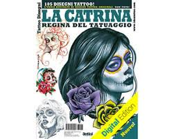day of the dead skull women 2 tattoo flash design book 66 pages