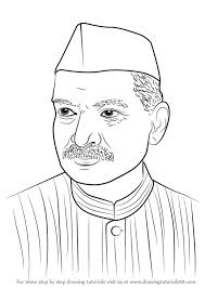 learn how to draw dr rajendra prasad politicians step by step