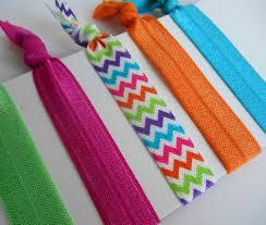 elastic hair ties rainbow chevron hair ties set bracelets fold elastic 5