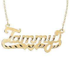 chain name necklace images 24k yellow gold plated sterling diamond cut name necklace