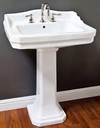 What Are Bathroom Sinks Made Of Art Deco Pedestal Sink Made Of Vitreous China Measures Countertop