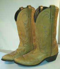 vintage cowboy boot l laredo men s boots deer tan leather light brown vintage cowboy