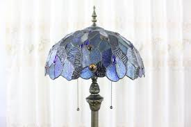 Glass Shades For Floor Lamps Blue Stained Glass 16