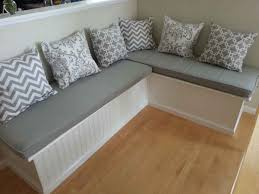 dove grey microfiber custom window seat cushions with assorted