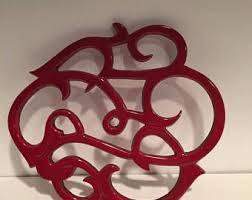 Decorative Metal Trivets Red Trivet Etsy