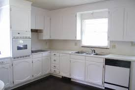 repainting oak kitchen cabinets painting oak cabinets white an amazing transformation lovely etc