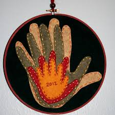 my appliqued version of hand silhouettes for father u0027s day made
