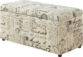 Vintage Ottoman by Monarch Specialties Inc Vintage French Storage Ottoman U0026 Reviews