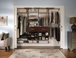 bedroom awesome closet design with dark brown wooden closet