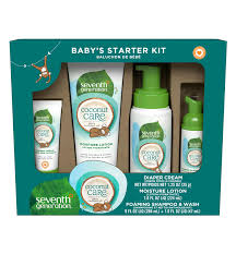 gift set baby gift set coconut baby skin care seventh generation