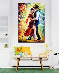 2017 palette knife painting tango waltz romantic double dance 2017 palette knife painting tango waltz romantic double dance picture oil canvas prints mural art for home office cafe wall decor from asenart