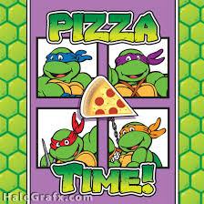 free printable retro ninja turtle pizza box cover ninja turtles