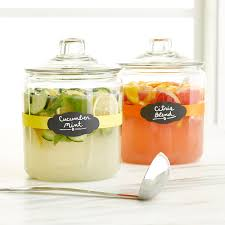 Kitchen Counter Canisters Anchor Hocking Glass Canisters With Glass Lids The Container Store