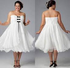 plus size wedding dresses with sleeves tea length custom white plus size wedding dresses 2015 with black bow