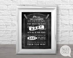 don u0027t say baby shower game printable baby shower game