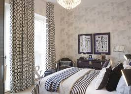 bedroom modern french bedroom design with white patterned drapes