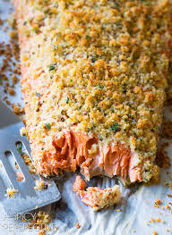 Bake Salmon In Toaster Oven Oven Baked Salmon Recipe With Parmesan Herb Crust Recipe Oven