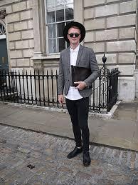 men u0027s charcoal wool blazer white dress shirt black skinny jeans