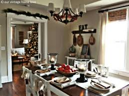 Decorating Dining Room Ideas Our Vintage Home Love Christmas Table Decor Ideas