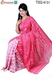 bangladeshi jamdani saree online tangail moslin silk jamdani saree tsg 8151 online shopping in