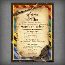 halloween birthday invite harry potter inspired witches u0026 wizards printable invitation