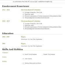 Download Sample Resume Template by Open Office Resume Templates Free Download Free Resume Templates