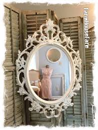 Shabby Chic Large Mirror by Oval Wall Mirror Baroque Mirror Ivory Shabby Chic Mirror