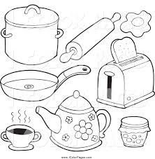 royalty free rolling pin stock coloring page designs