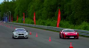 bmw vs audi race drag race bmw m6 vs f12 berlinetta vs bmw m4 vs audi s6