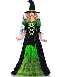 green storybook witch costume from leg avenue