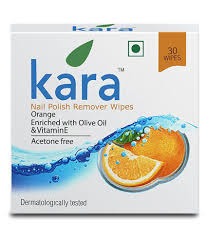 kara nail polish remover wipes orange 30pc pack of 6 makeup