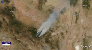 Wildfire From Space by The Monster Arizona Wildfire As Seen From Space Business Insider
